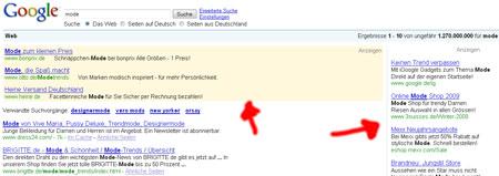 Platz 1 bei Google 2009