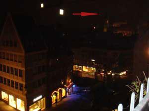Blick von Skybar Nürnberg