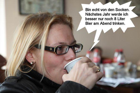 Alexandra Lindner und Socken - Max Lindner Strumpffabrik