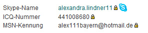 alexandra lindner skype icq msn