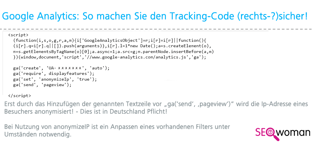 Google Universal Analytics Code Deutschland