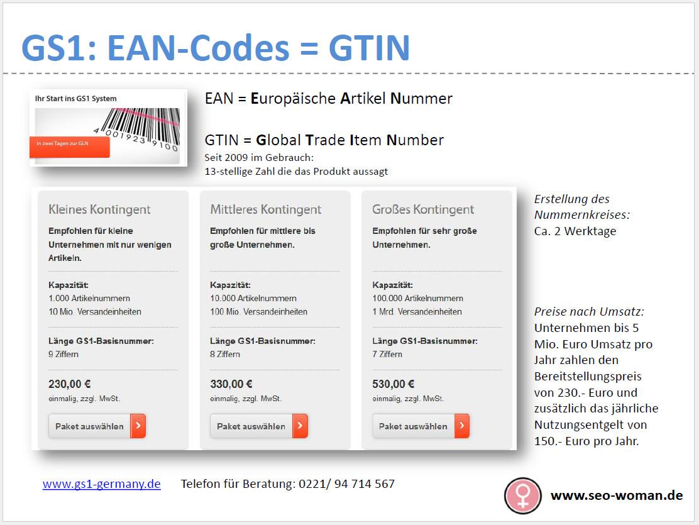 GS1 EAN-Code GTIN kaufen