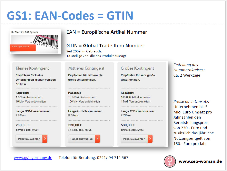 Google fordert GTIN (EAN-Code) für Shopping