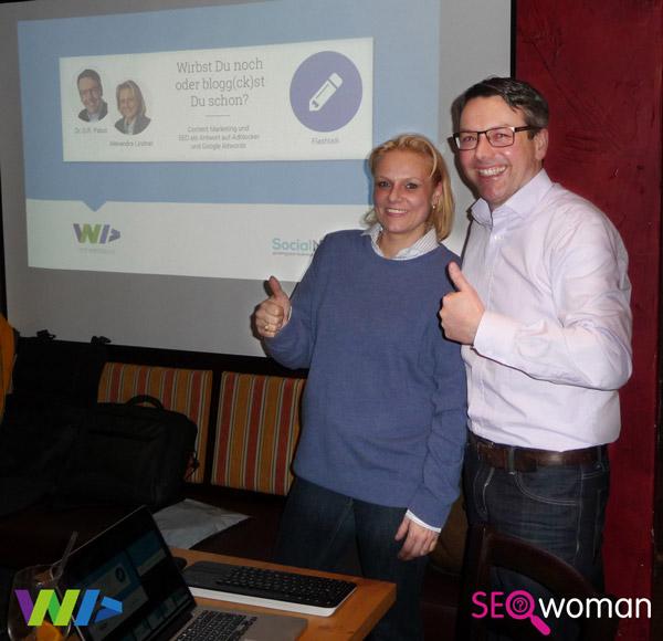 Alexandra Lindner und Dr. Gunter Pabst auf dem WebDay 2016