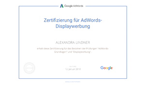 Alexandra Lindner Google Prüfung AdWords Displaywerbung