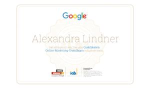 Alexandra Lindner Google Prüfung Digital Workshop