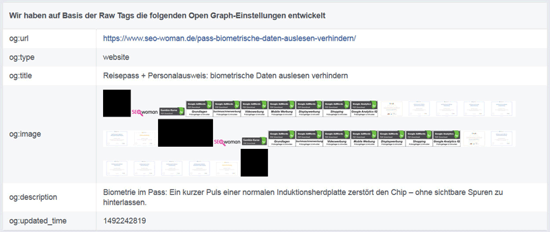 Facebook: Open Graph Object Debugger