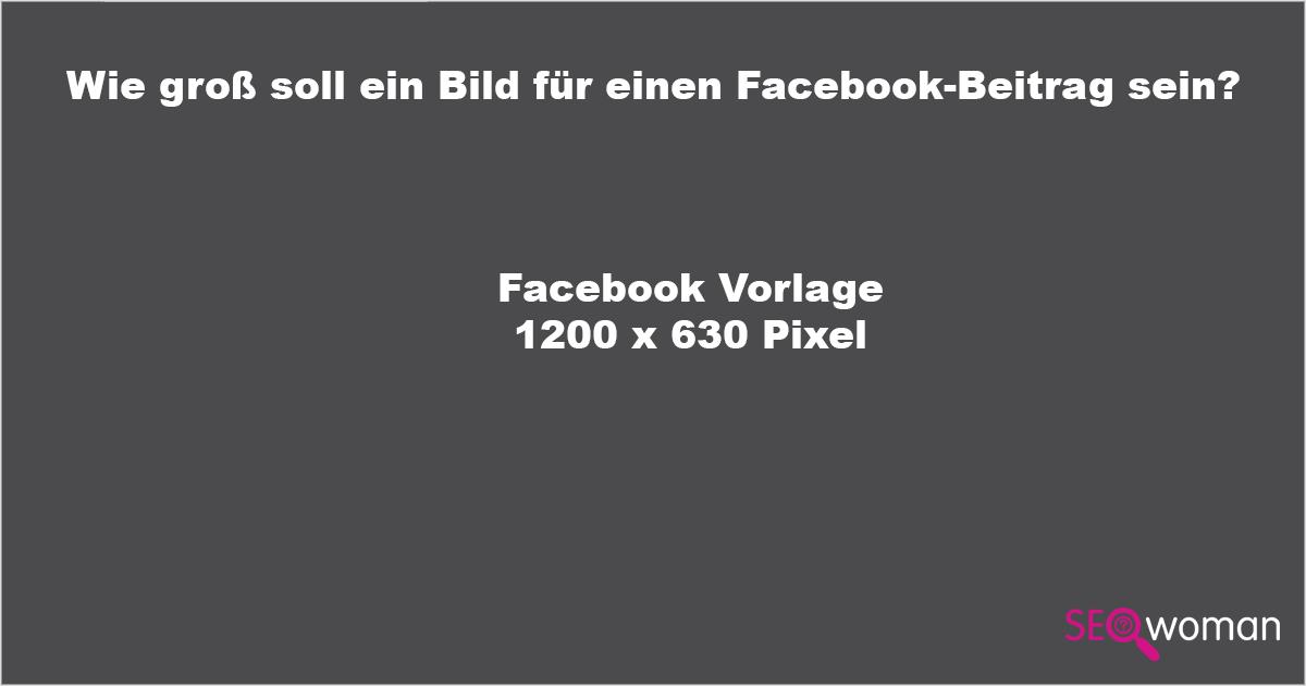 Facebook Bildergröße