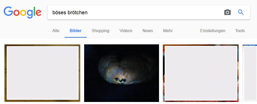 Google-Suche: Böses Brötchen
