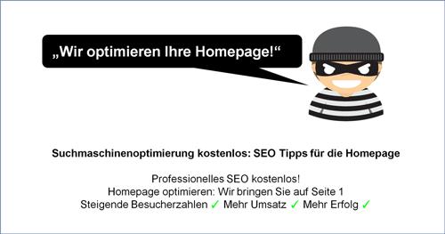 Homepage optimieren - Professionelles SEO kostenlos