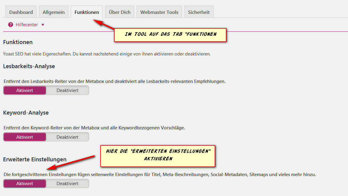 Yoast SEO WordPress: Einstellungen SocialMedia