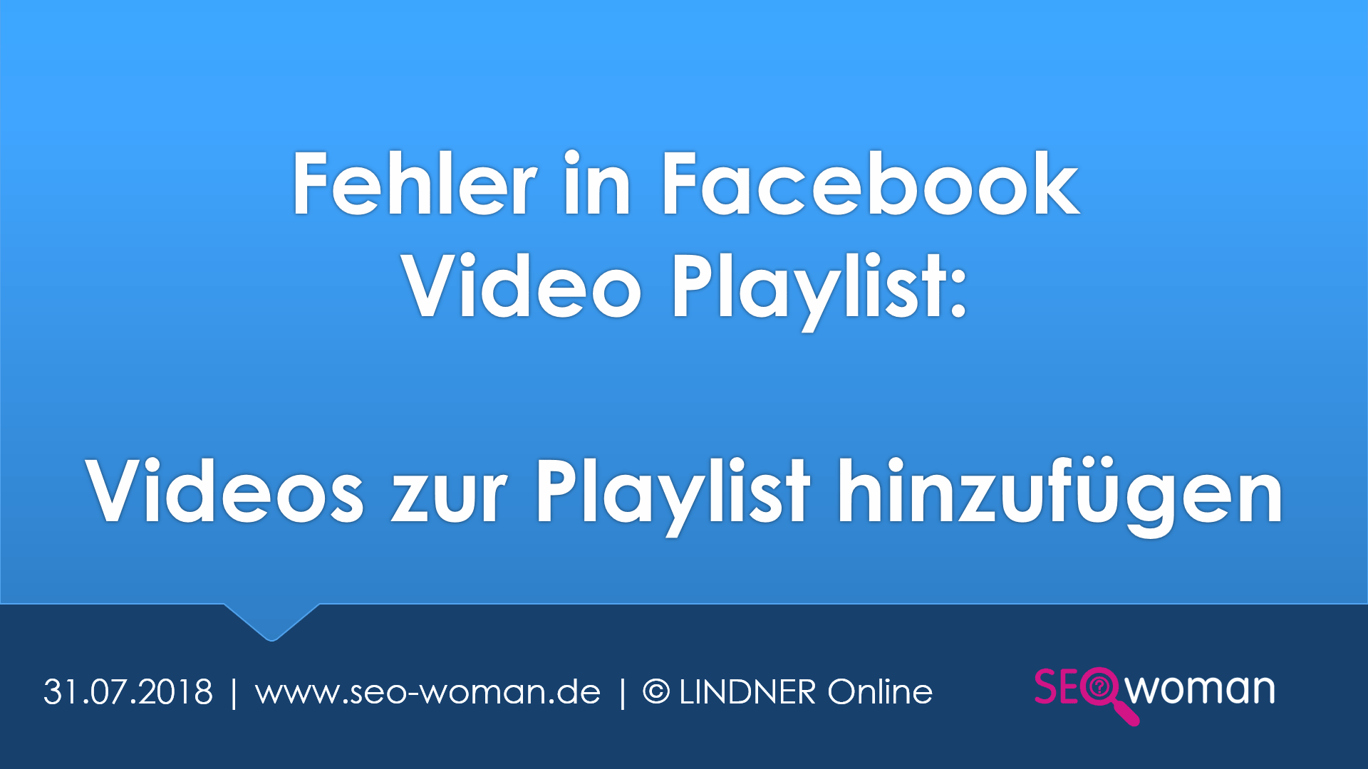 Fehler in Facebook Video Playlist