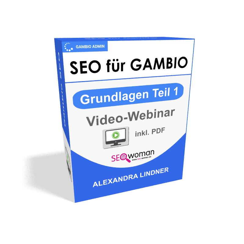 Gambio SEO-Grundlagen Teil 1 Webinar