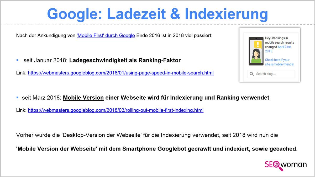 Google: Ladezeit ist Rankingfaktor