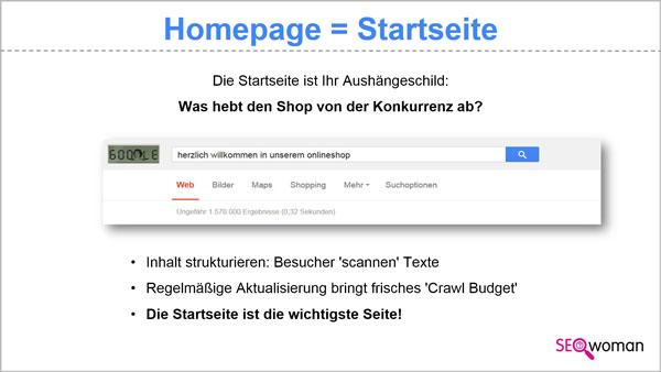 Homepage = Startseite - Herzlich willkommen
