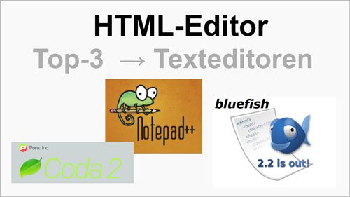 HTML-Editor Top-3 Texteditoren für Windows MAC Linux