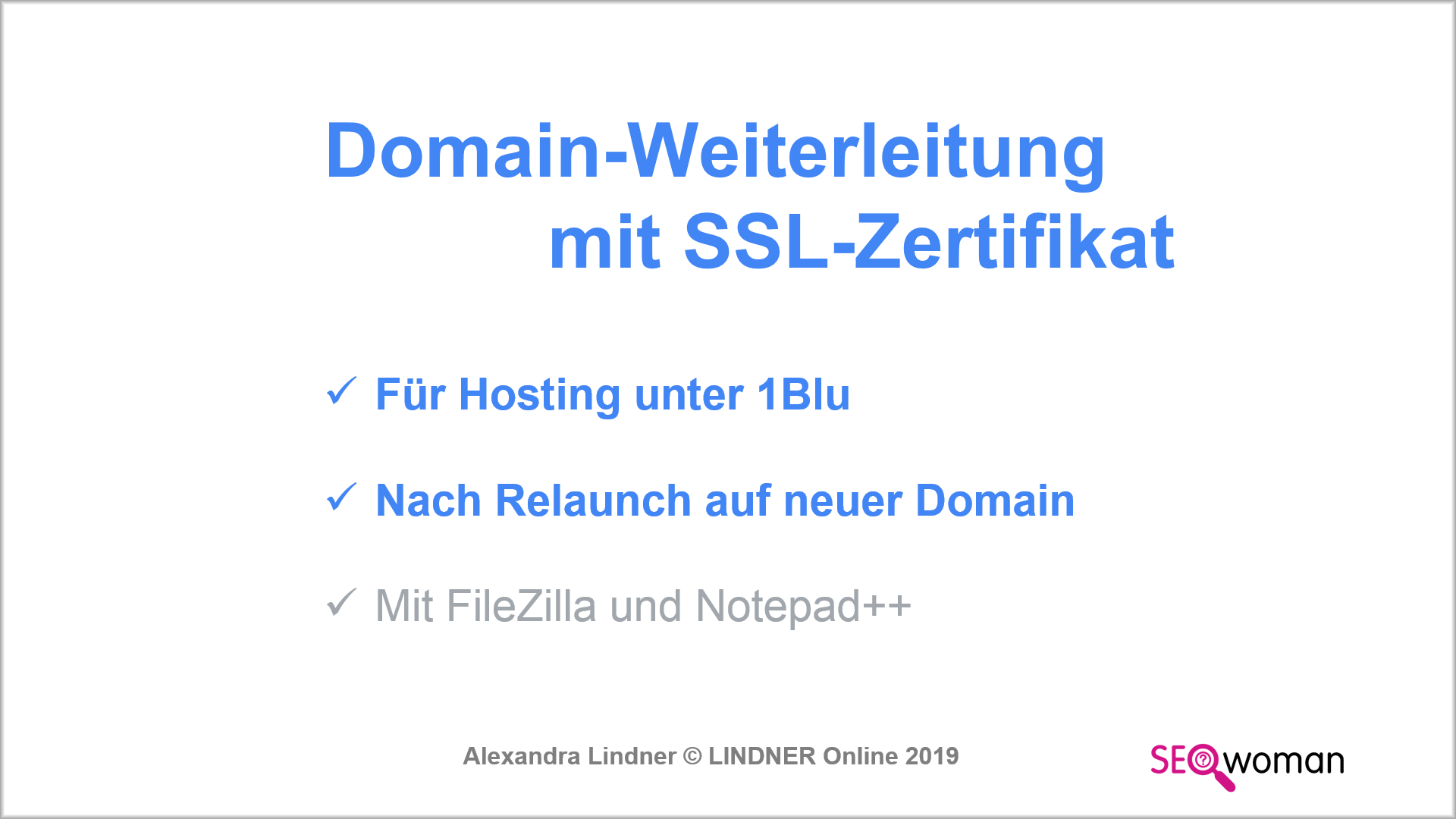 Domain-Redirect mit 1blu » Video