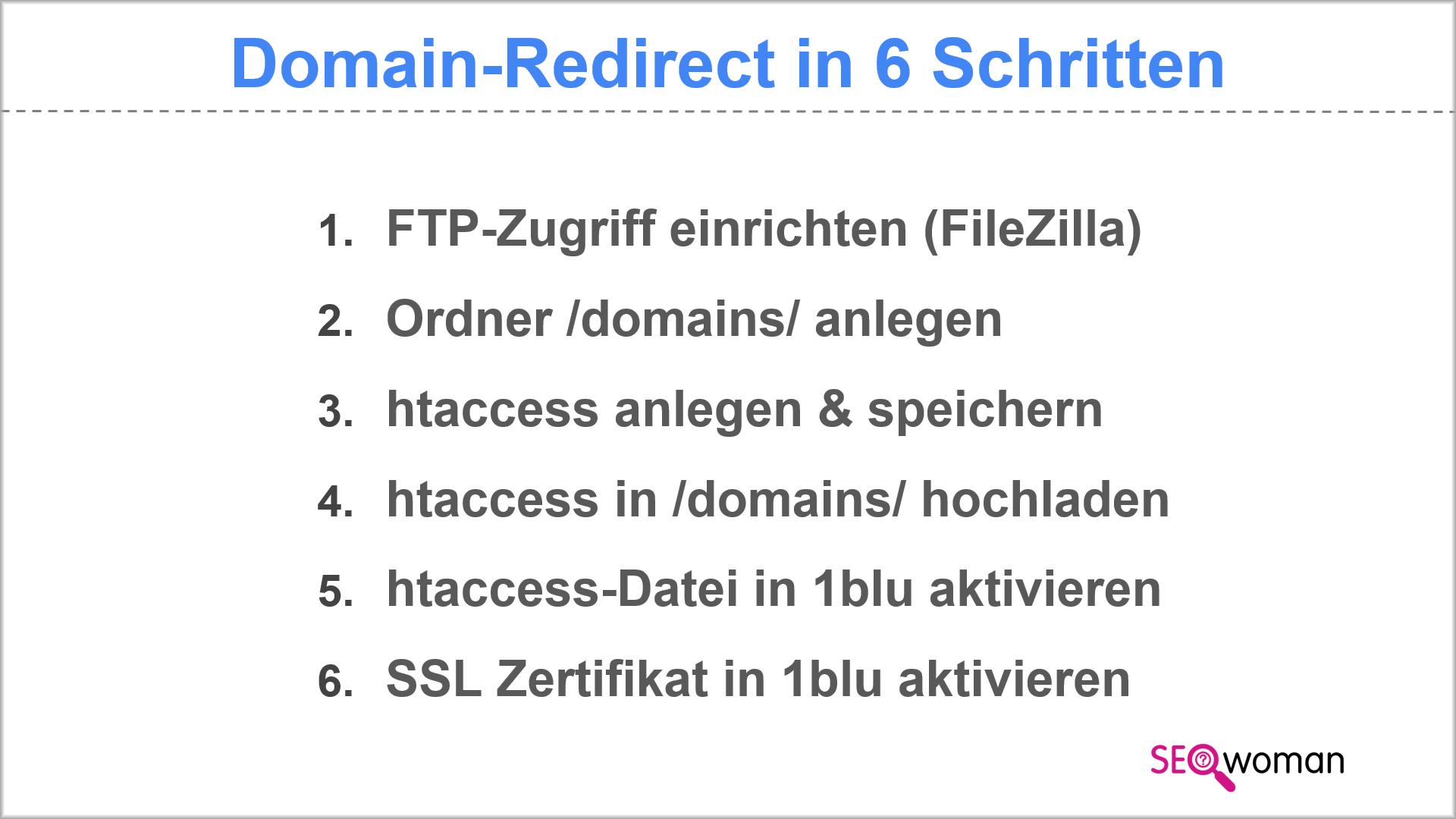 Relaunch htaccess-Weiterleitung Inhaltsverzeichnis
