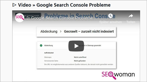 ▷ Video Google Search Console Probleme 💔