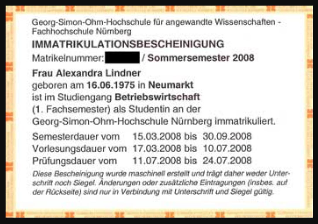 Studentenausweis | Diplom-Betriebswirtin