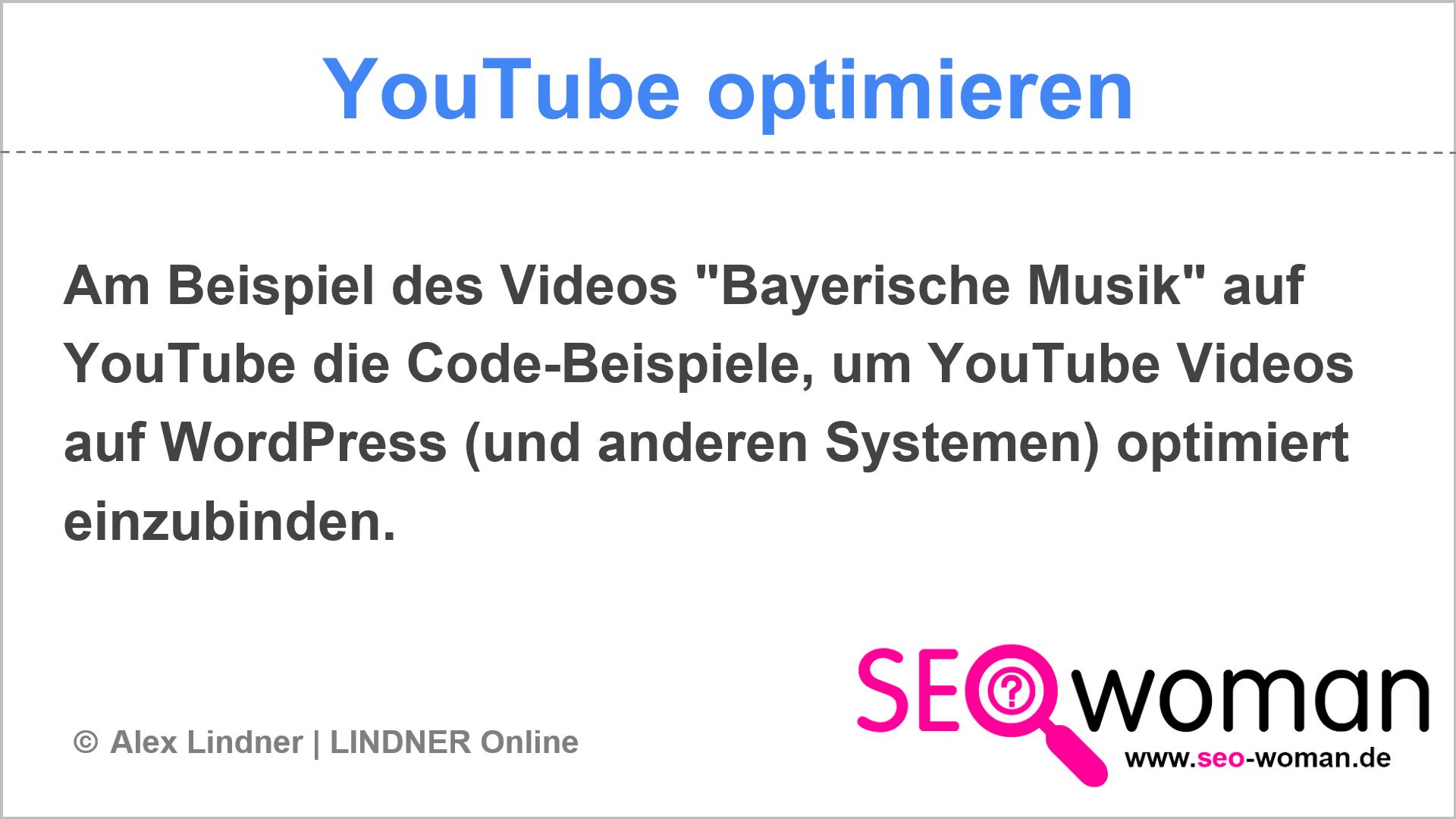 Bayerische Musik | YouTube optimieren
