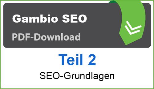 PDF Gambio SEO-Grundlagen Teil 2