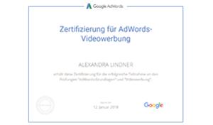 Google Prüfung Videowerbung