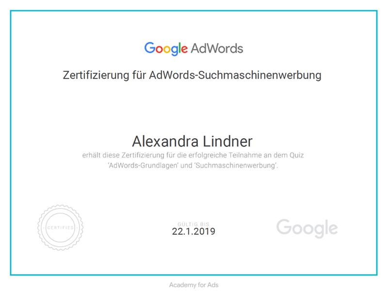 Google AdWords Suchmaschinenwerbung