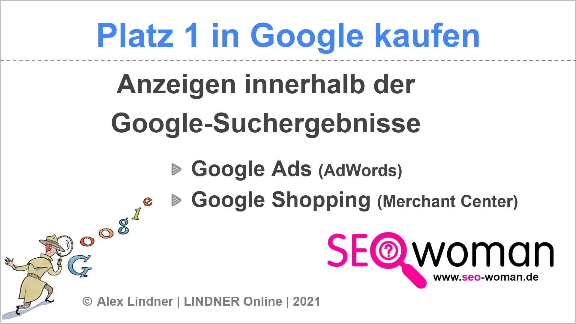 Platz 1 in Google kaufen | SEOwoman