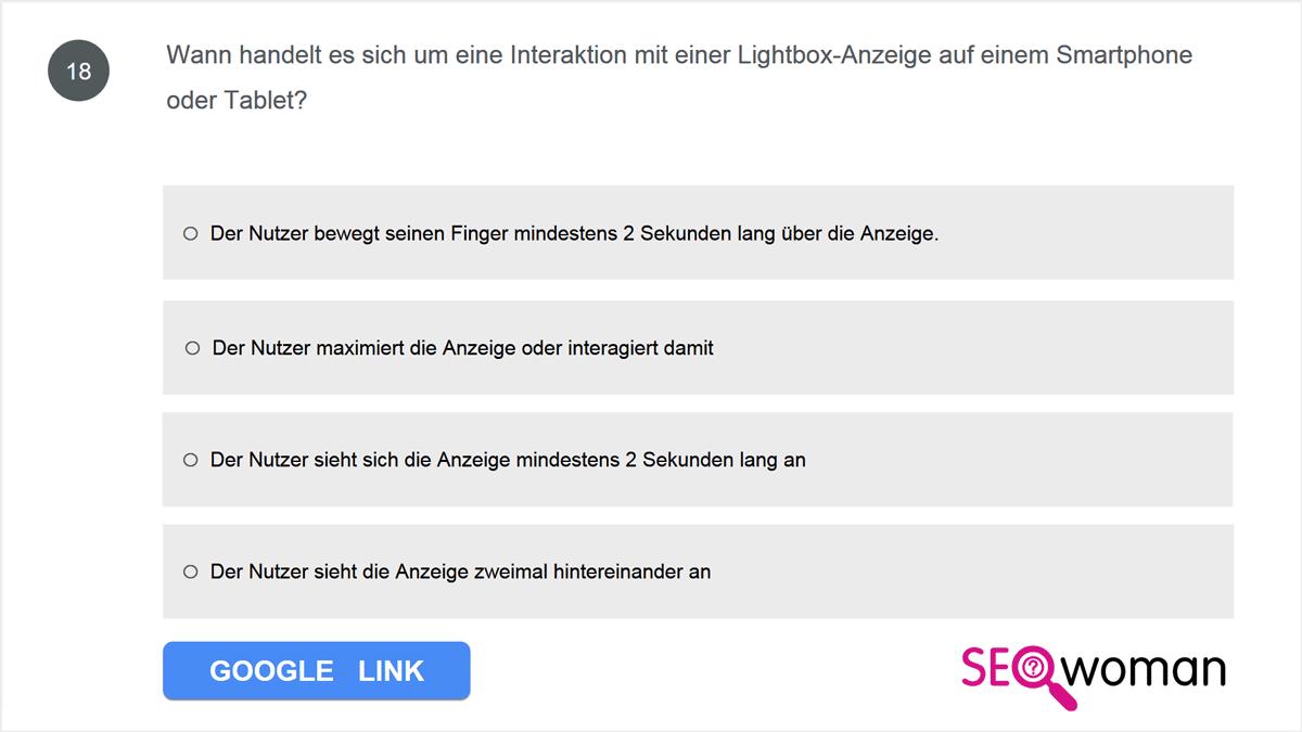 Wann handelt es sich um eine Interaktion mit einer Lightbox-Anzeige auf einem Smartphone oder Tablet?