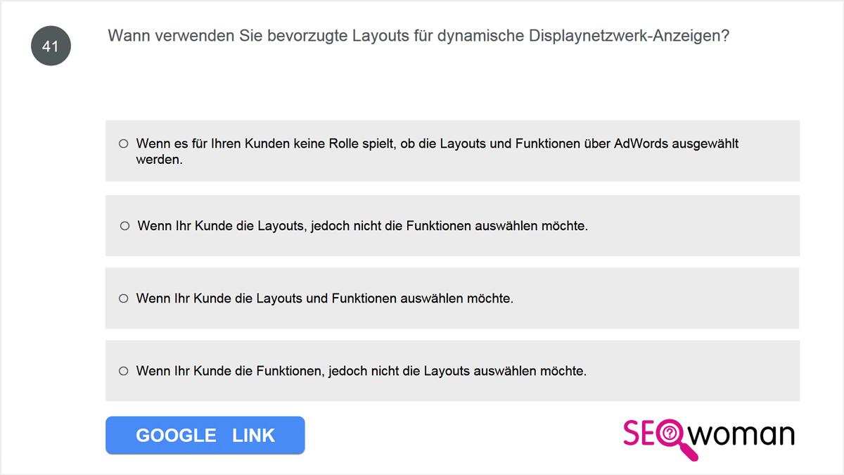 Wann verwenden Sie bevorzugte Layouts für dynamische Displaynetzwerk-Anzeigen?