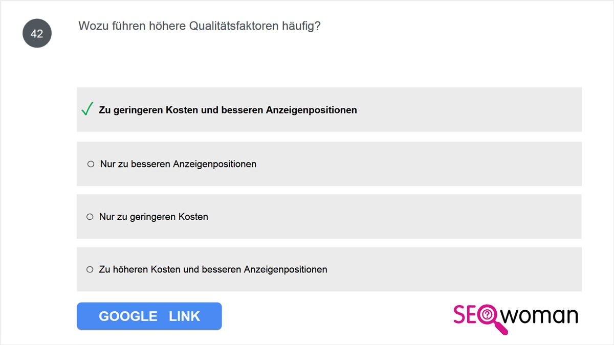 Wozu führen höhere Qualitätsfaktoren häufig?