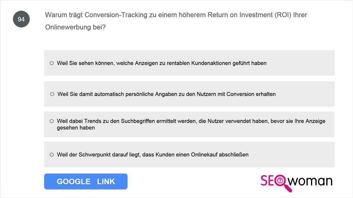 Warum trägt Conversion-Tracking zu einem höherem Return on Investment (ROI) Ihrer Onlinewerbung bei?