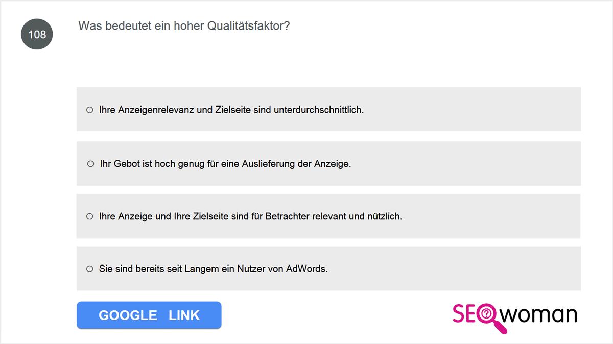 Was bedeutet ein hoher Qualitätsfaktor?