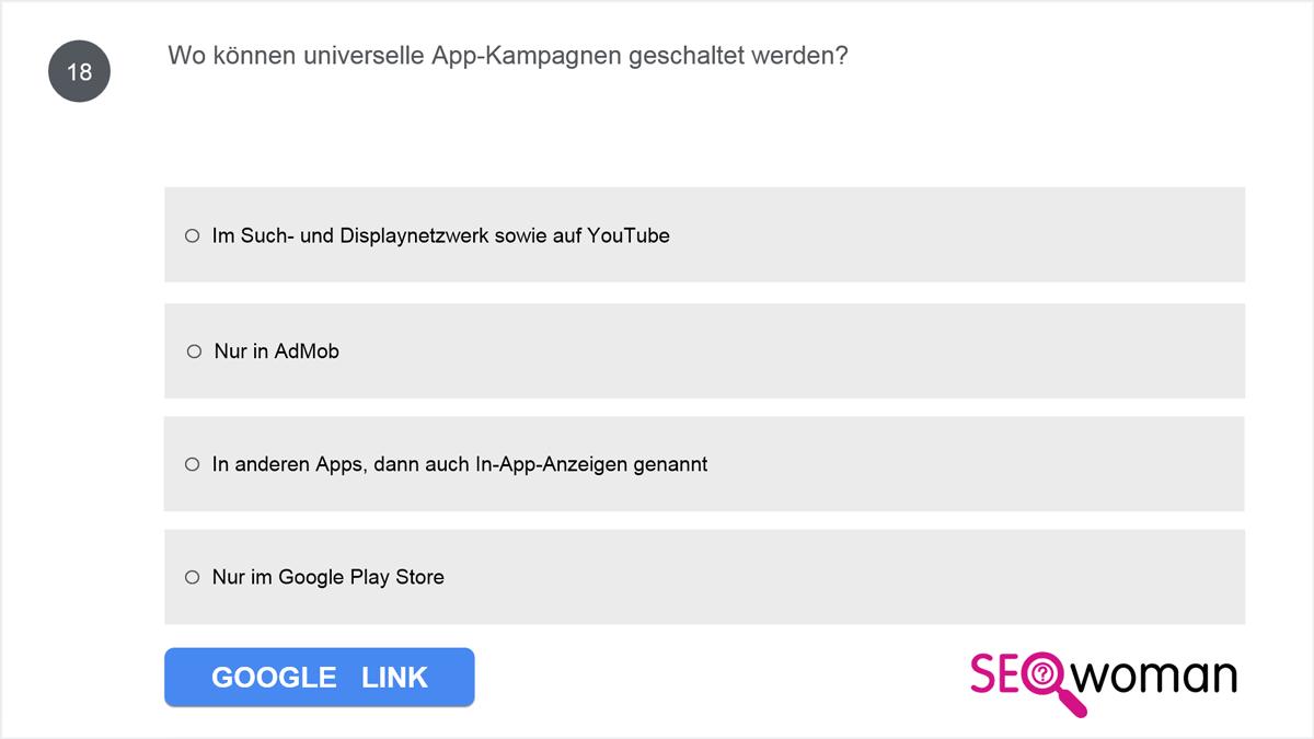 Wo können universelle App-Kampagnen geschaltet werden?