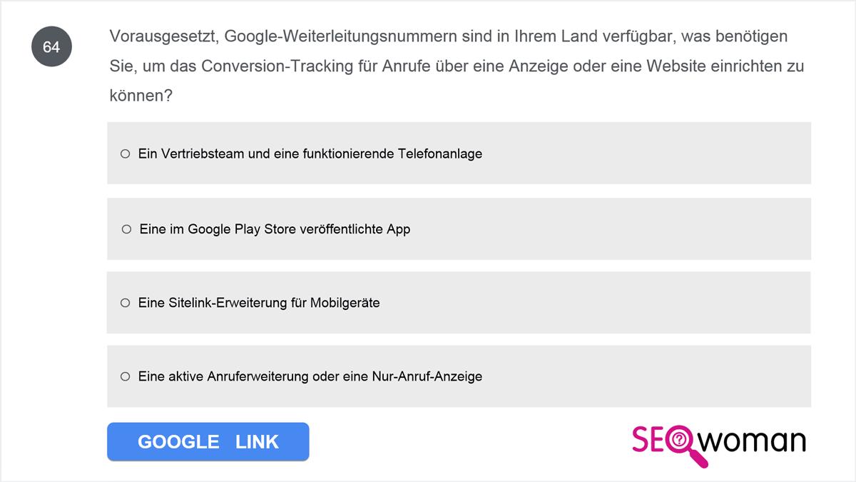 Vorausgesetzt, Google-Weiterleitungsnummern sind in Ihrem Land verfügbar, was benötigen Sie, um das Conversion-Tracking für Anrufe über eine Anzeige oder eine Website einrichten zu können?