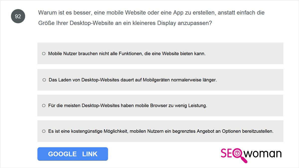 Warum ist es besser, eine mobile Website oder eine App zu erstellen, anstatt einfach die Größe Ihrer Desktop-Website an ein kleineres Display anzupassen?