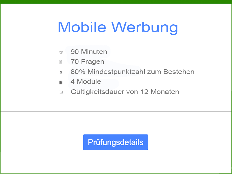 Google AdWords Mobile Werbung