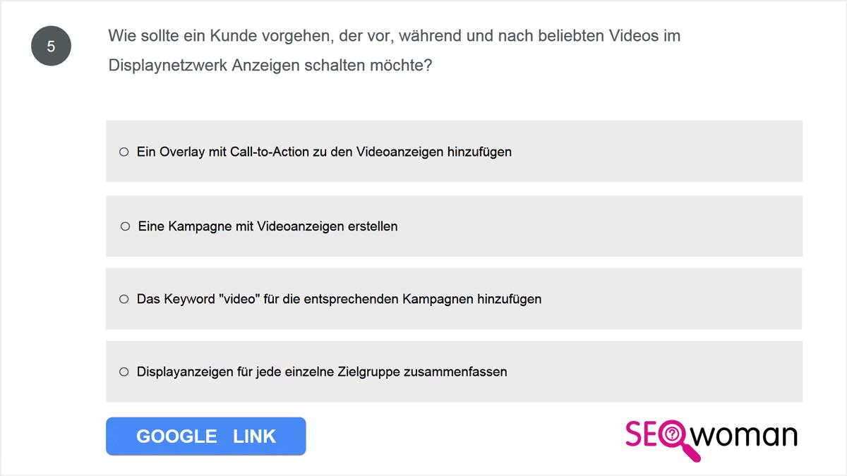 Wie sollte ein Kunde vorgehen, der vor, während und nach beliebten Videos im Displaynetzwerk Anzeigen schalten möchte?