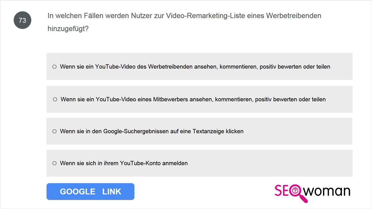 In welchen Fällen werden Nutzer zur Video-Remarketing-Liste eines Werbetreibenden hinzugefügt?