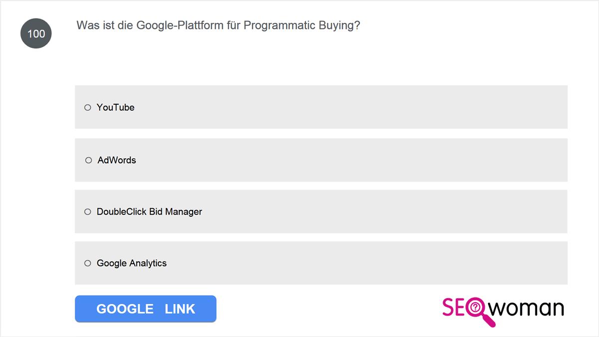Was ist die Google-Plattform für Programmatic Buying?