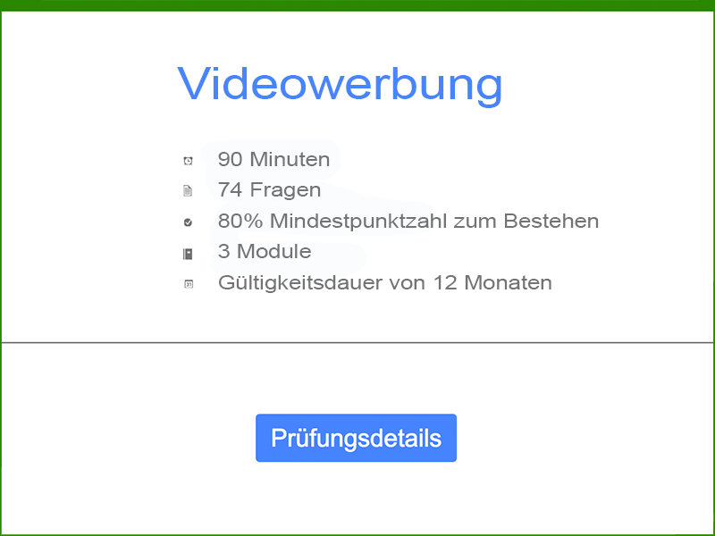 Informationen: Google AdWords Videowerbung