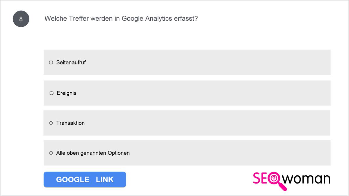 Welche Treffer werden in Google Analytics erfasst?