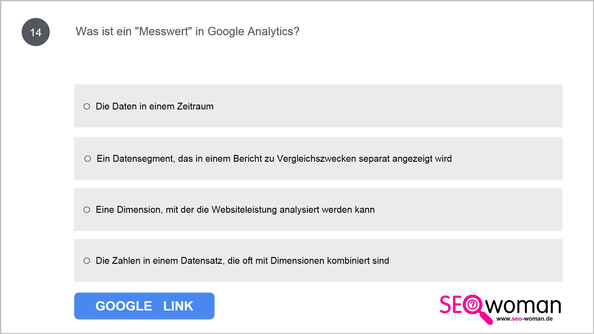 Was ist ein Messwert in Google Analytics?