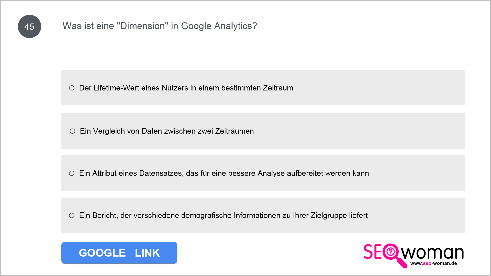 Was ist eine Dimension in Google Analytics?