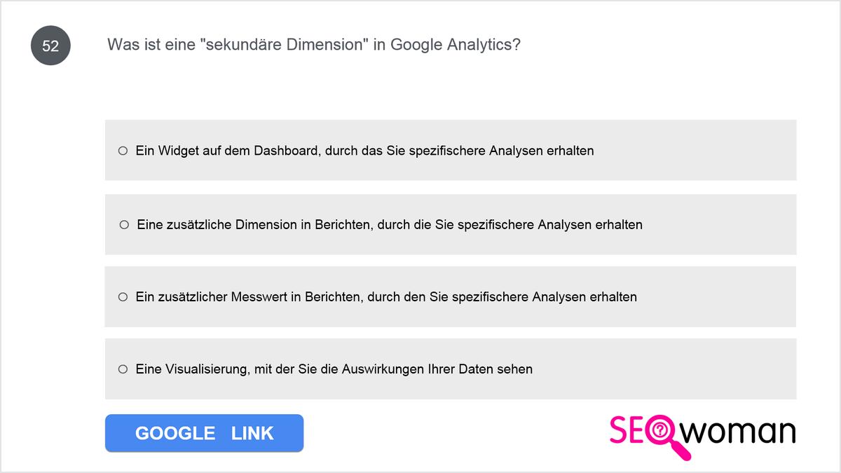 Was ist eine 'sekundäre Dimension' in Google Analytics?