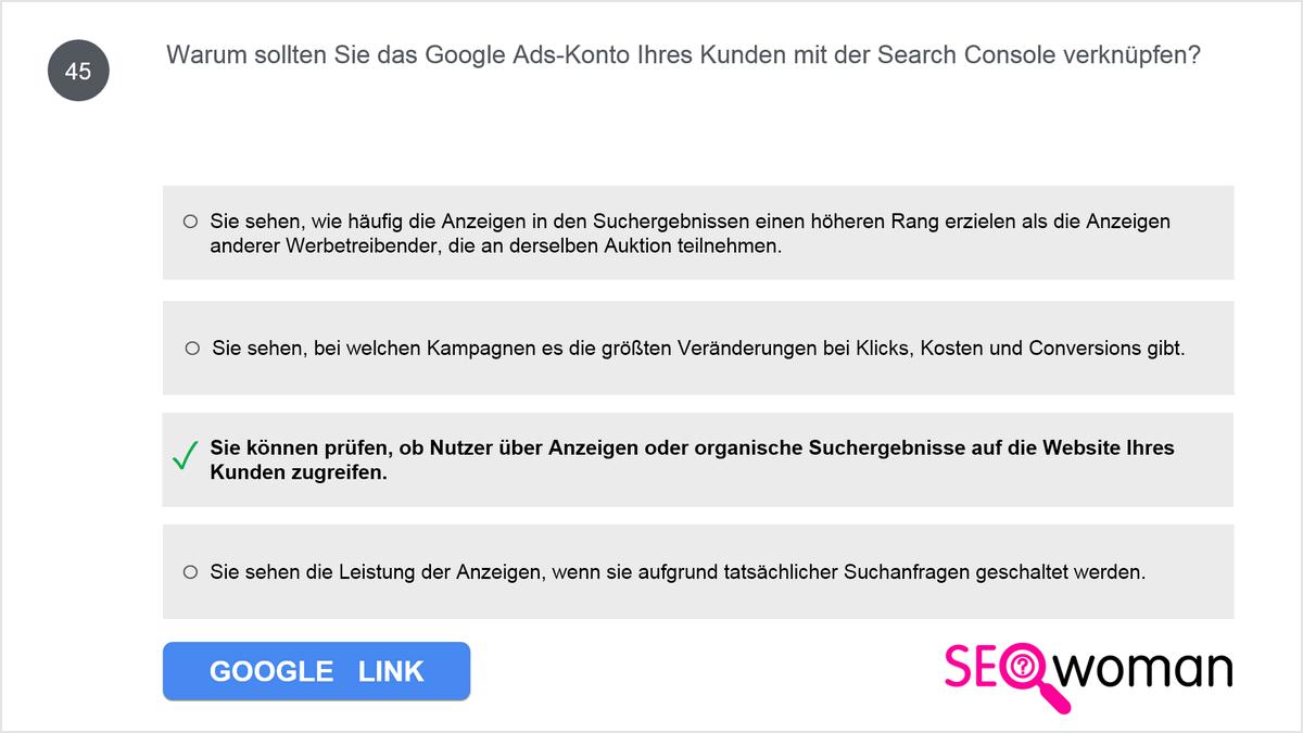 Warum sollten Sie das Google Ads-Konto Ihres Kunden mit der Search Console verknüpfen?