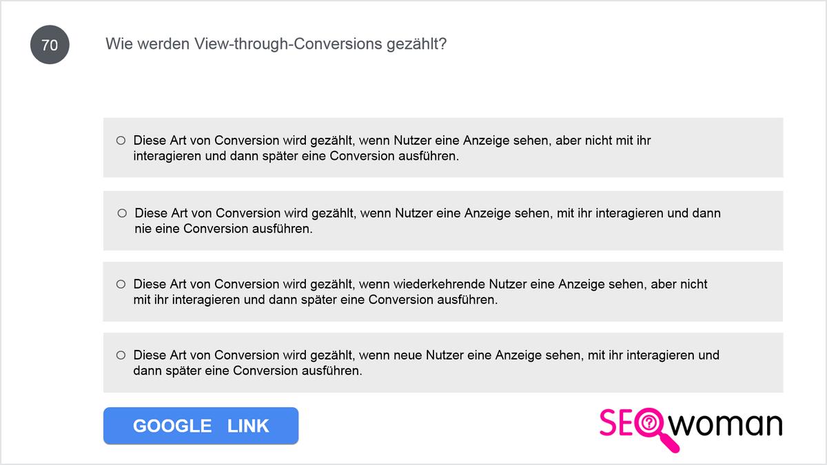Marion betreibt einen Onlineshop und möchte ihre Werbung mit Google Ads optimieren. Aktuell ist Google Analytics für ihre Website implementiert; jetzt möchte sie Conversion-Tracking mit Google Ads einrichten. Was muss sie tun, um das Conversion-Tracking effektiv zu gestalten?