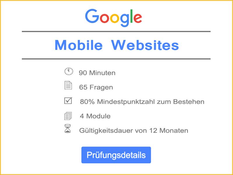 Google Mobile Websites Prüfungsdetails