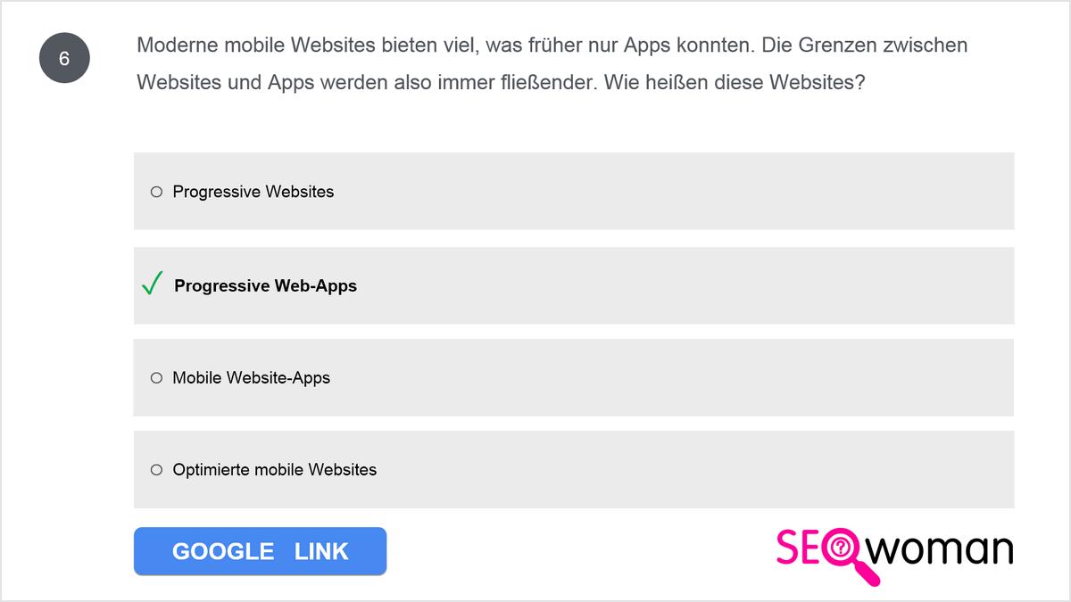 Moderne mobile Websites bieten viel, was früher nur Apps konnten. Die Grenzen zwischen Websites und Apps werden also immer fließender. Wie heißen diese Websites?